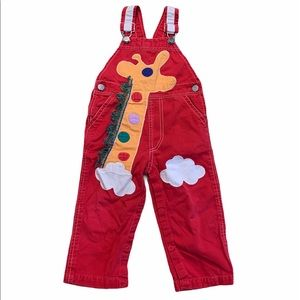 VINTAGE Giraffe Overalls by Popsicle